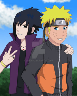 Sasuke and naruto Road To Ninja