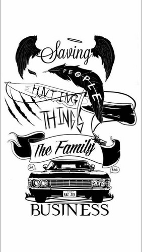 Supernatural wallpaper entitled Saving people hunting things the family business wallpaper