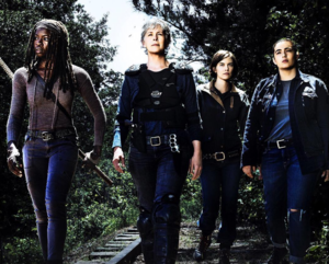 Season 8 First Look ~ Michonne, Carol, Maggie and Tara
