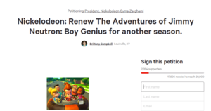 Sign This Petition to Support Jimmy Neutron!