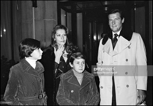 Sir Roger Moore With His Family