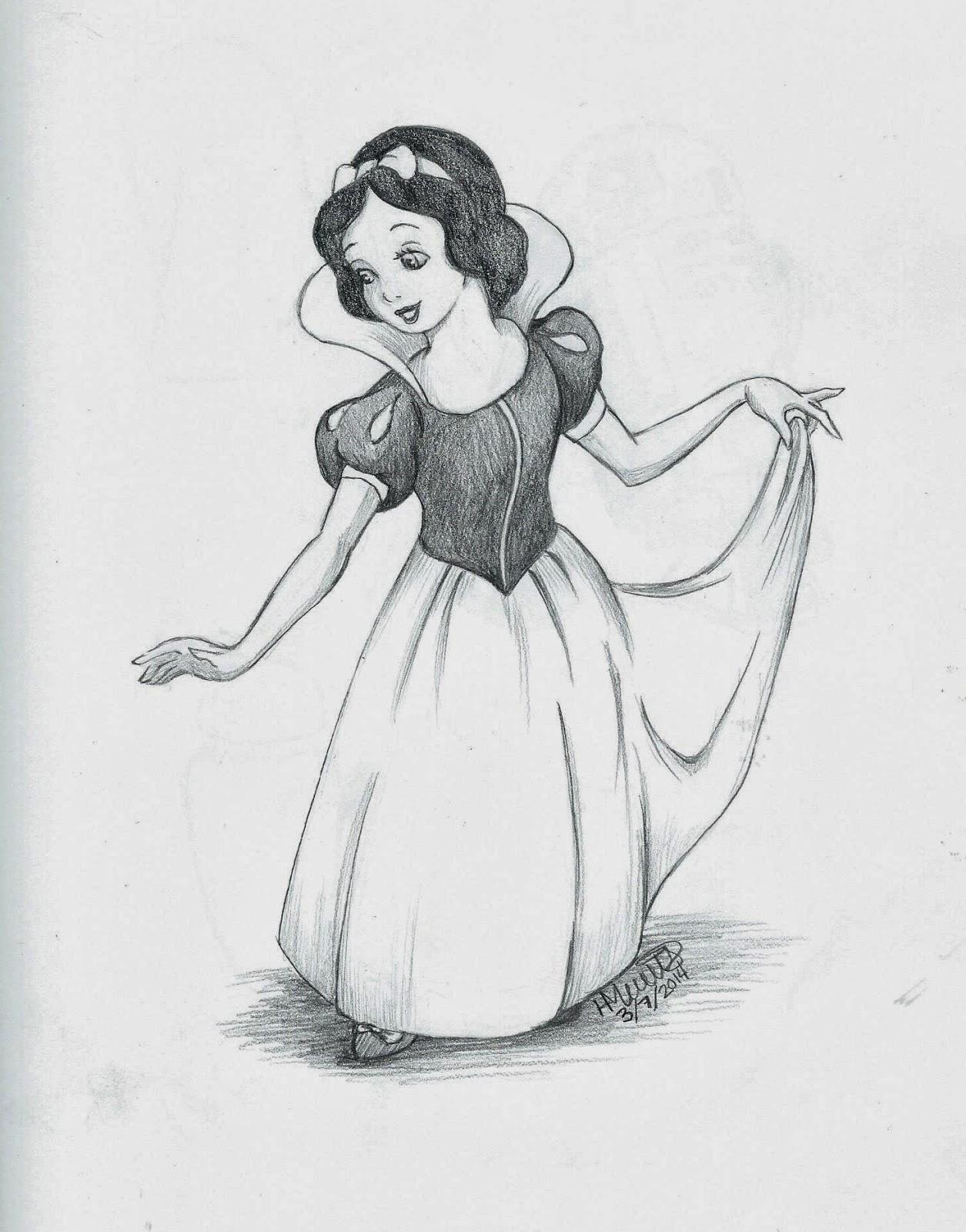 Snow white drawing andy10b fan art 40554939 fanpop