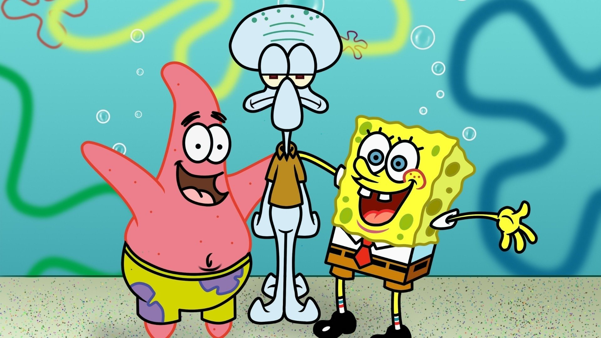 海绵宝宝 images spongebob, patrick and squidward 壁纸 hd wallpap
