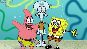 Spongebob, Patrick and Squidward fond d'écran