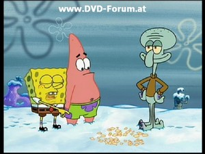 Spongebob, Patrick and Squidward kertas dinding