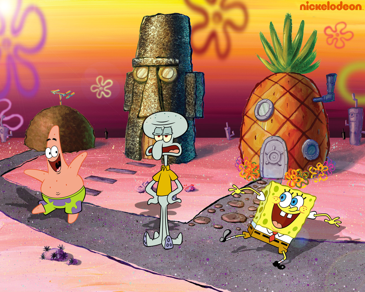 Spongebob, Patrick and Squidward Обои