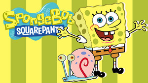 Spongebob and Gary fondo de pantalla