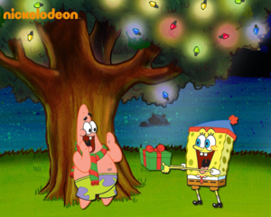 Spongebob and Patrick Christmas fond d'écran
