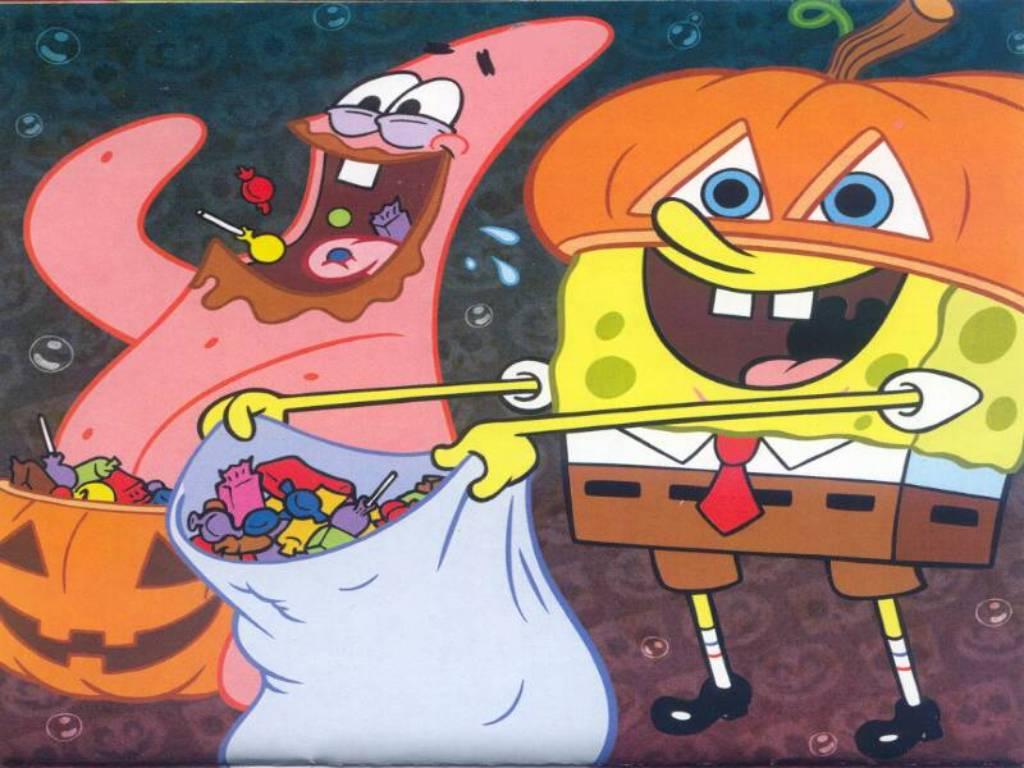 Spongebob and Patrick 할로윈 바탕화면