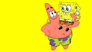 Spongebob and Patrick fond d'écran