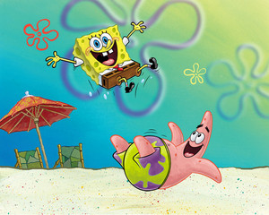 Spongebob and Patrick 바탕화면