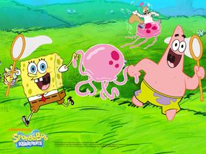 Spongebob and Patrick Обои