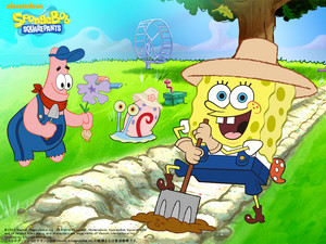 Spongebob and Patrick Обои