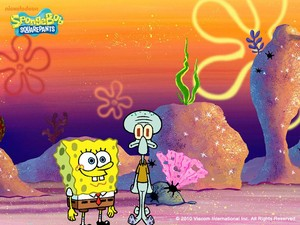 Spongebob and Squidward پیپر وال