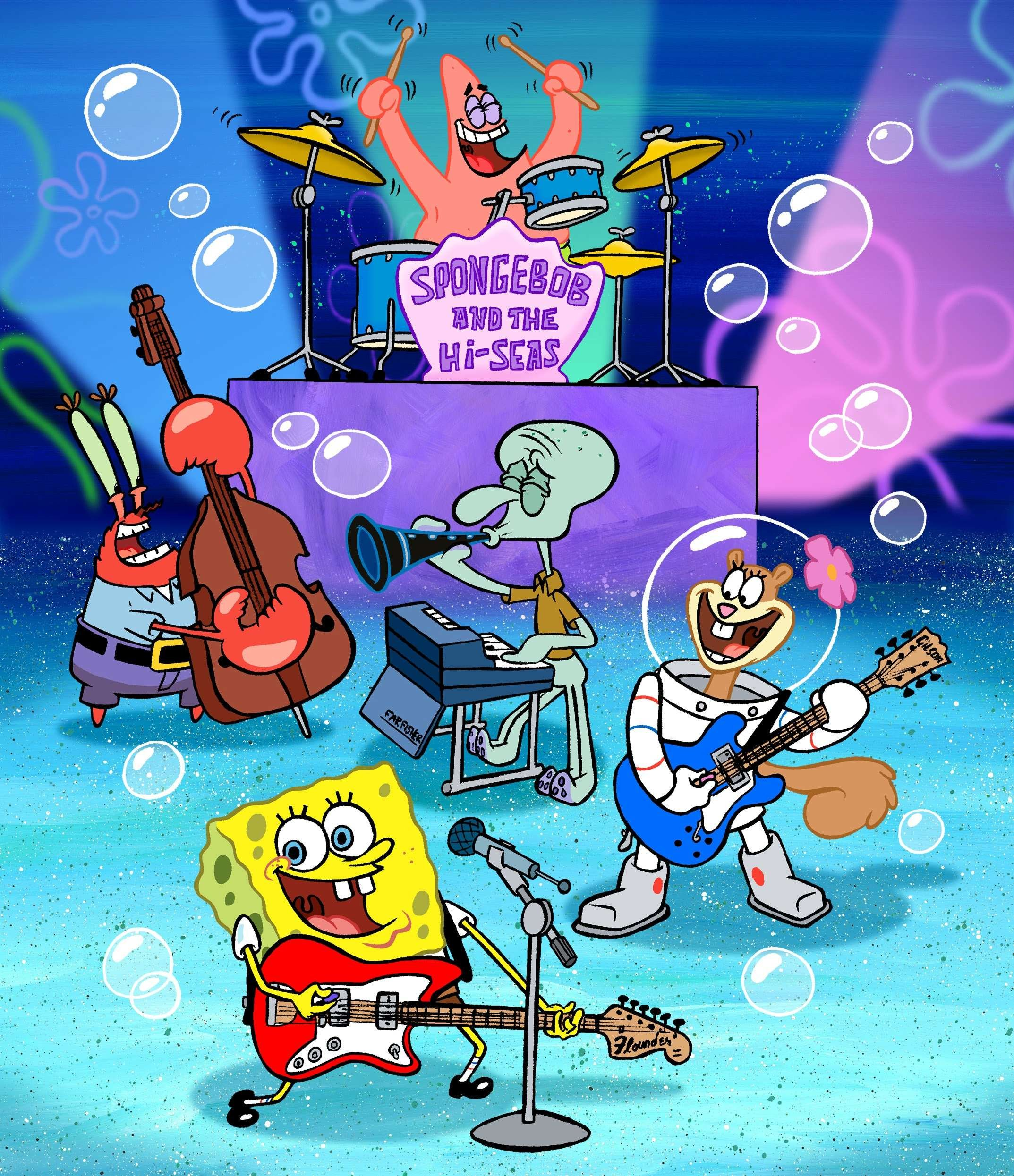 Spongebob's band wallpaper