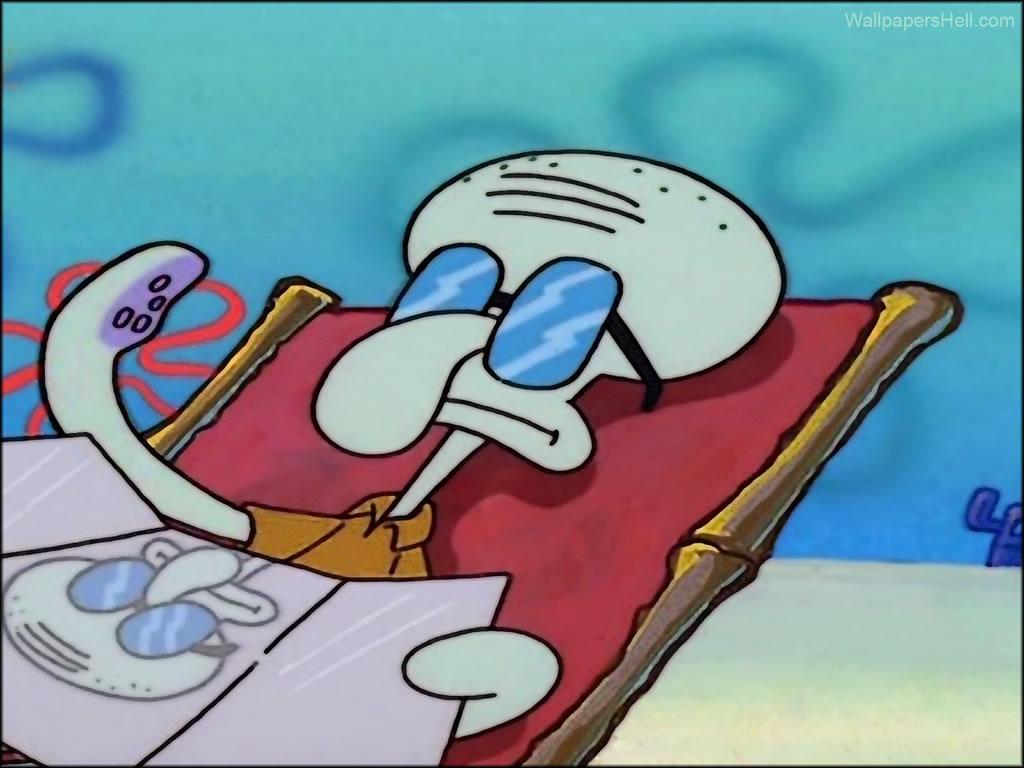 Squidward karatasi la kupamba ukuta