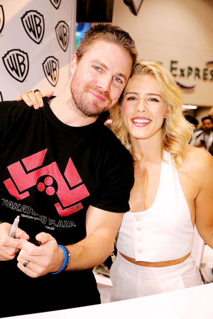 Stephen and Emily at the WB Booth