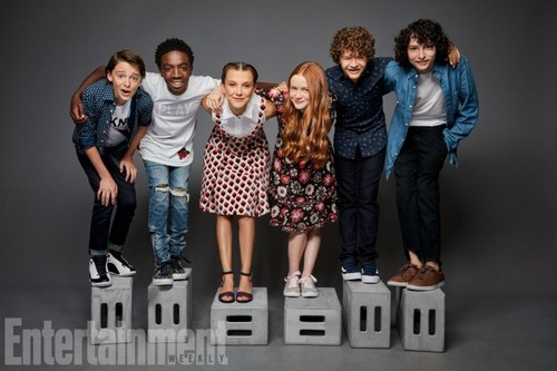 Stranger Things fondo de pantalla titled Stranger Things Cast at San Diego Comic Con 2017