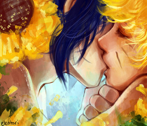 Sunflower kiss
