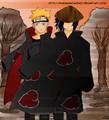 Sunset  Akatsuki Naruto Sasuke - sasunaru fan art