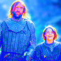 The Hound and Arya - game-of-thrones fan art