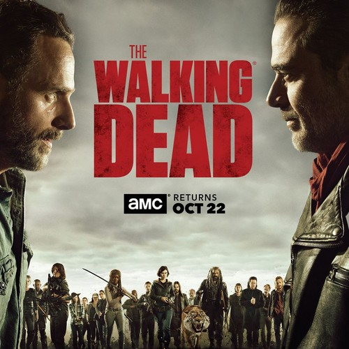The Walking Dead karatasi la kupamba ukuta called The Walking Dead - Season 8 Comic-Con Poster