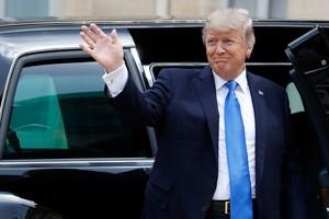 Trump at Elysee Palace - July 13, 2017