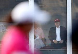 Trump at US Women's Open Round Three