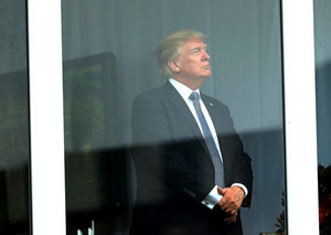 Trump at US Women's Open Round Two - July 14, 2017