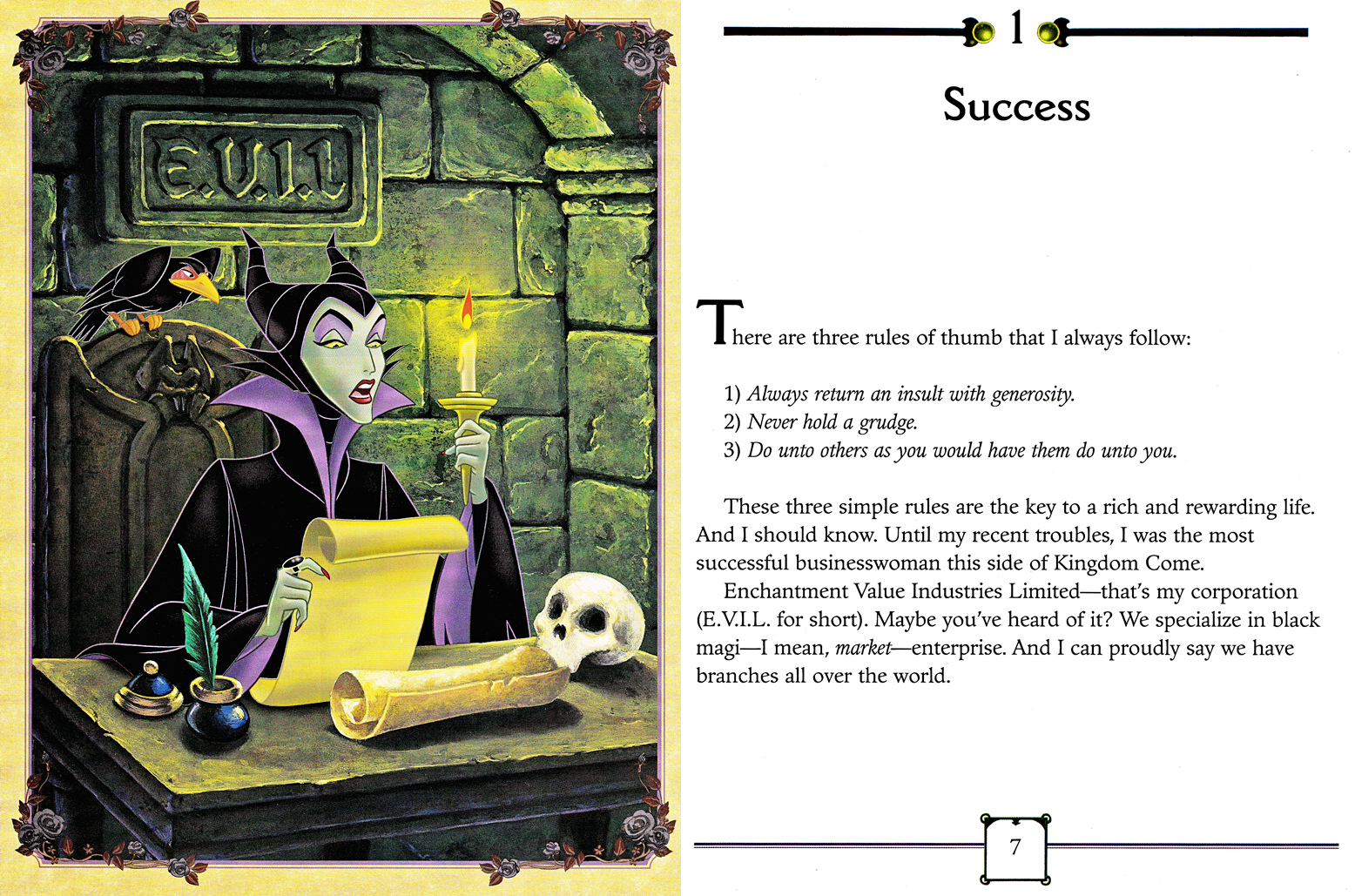 Walt Disney Characters Images Walt Disney Book Scans Sleeping Beauty My Side Of The Story Maleficent Hd Wallpaper And Background Photos