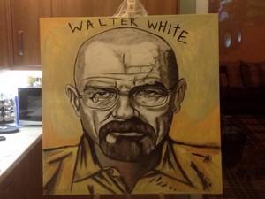 Walter White painting