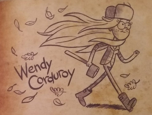Gravity Falls wallpaper entitled Wendy Corduroy