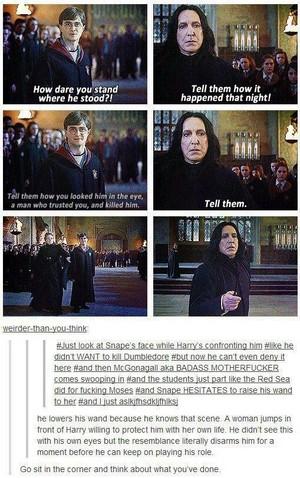 When McGonagall Confronts Snape