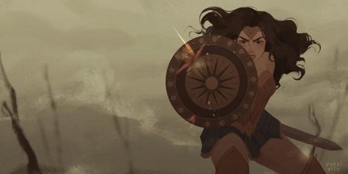 magtaka babae wolpeyper titled Wonder Woman