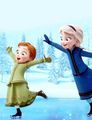 Young Elsa & Young Anna - disney fan art