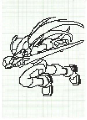 Zero in pixel 001