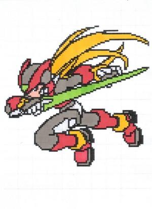 Zero in pixel 001 colored