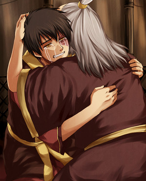 Zuko hugging his Uncle