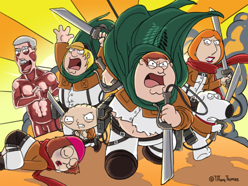 Family Guy wallpaper called attack on family guy by tift0 d9cfftc