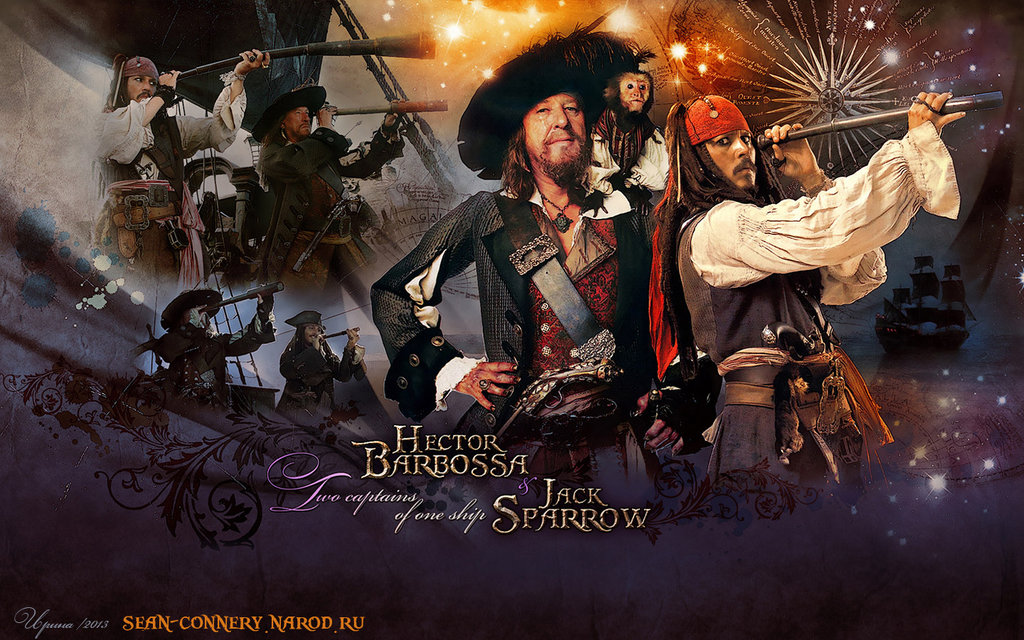 hector barbossa and jack sparrow  two captains  by bormoglot d5s59mv