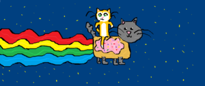 Stampy On Neon Cat