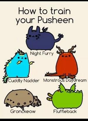 pusheen dragon