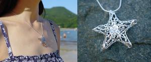 starfish halsketting, ketting silver vulcanjewelry 10