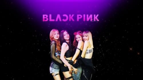 Black गुलाबी वॉलपेपर titled BLACKPINK