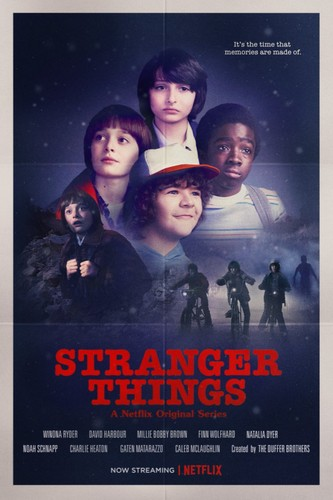 Stranger Things achtergrond called 'Stranger Things' - 'Stand door Me' Inspired Poster