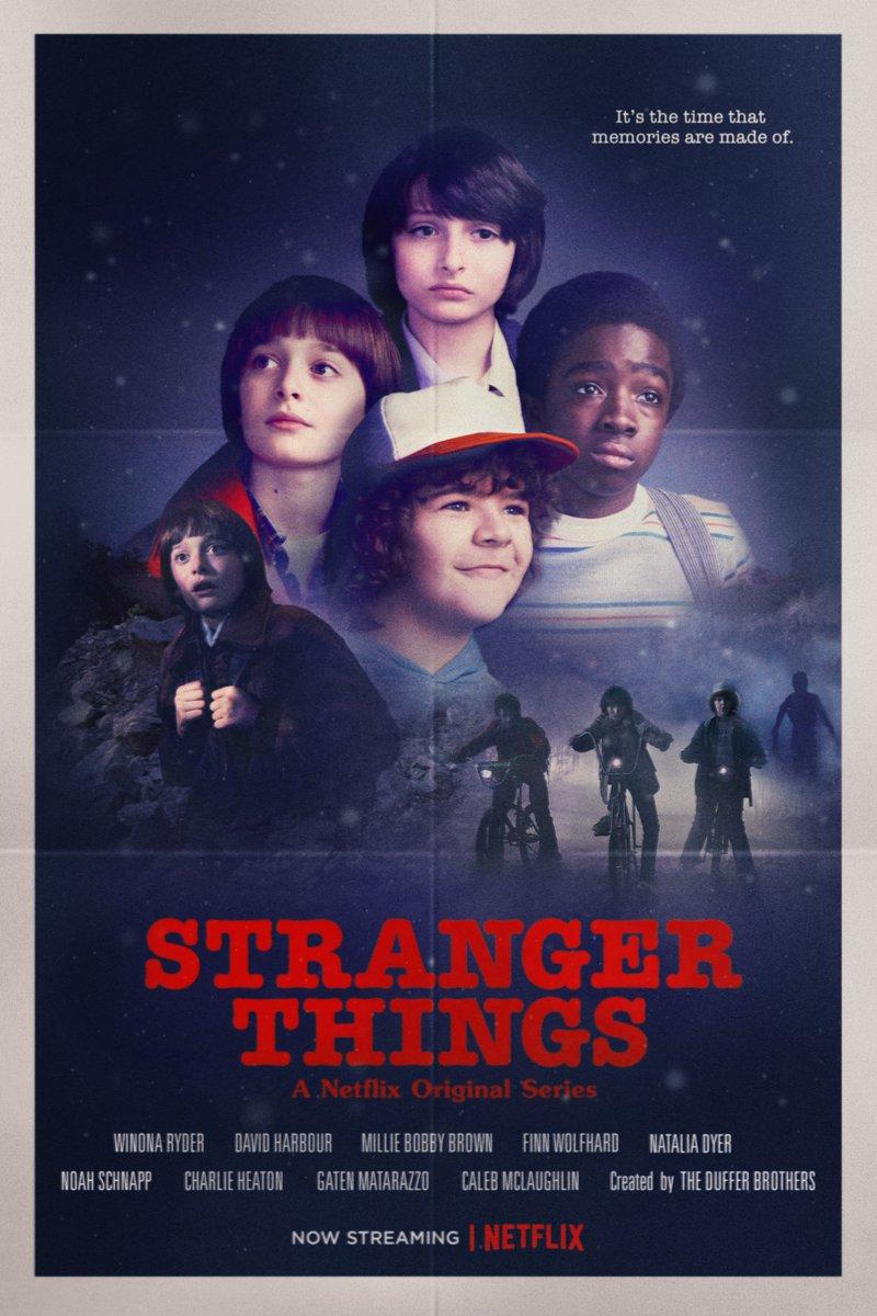 'Stranger Things' - 'Stand দ্বারা Me' Inspired Poster