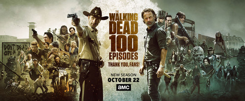 The Walking dead wallpaper titled 100 Episodes Poster ~ Season 8