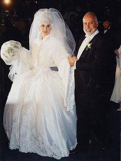 Celine On Her Wedding দিন Back In 1996