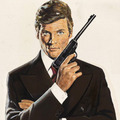 Sir Roger Moore As 007 - james-bond fan art