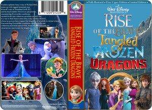 A Walt Disney Masterpiece Rise of the Rebelle Raiponce La Reine des Neiges dragons VHS